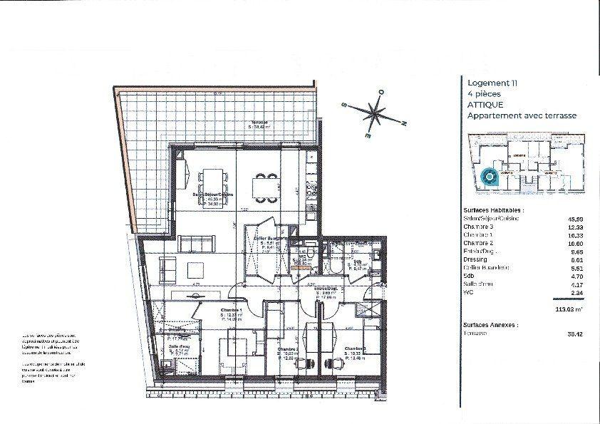 Appartement à vendre 5 115.3m2 à La Walck vignette-3