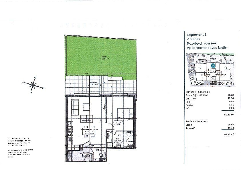 Appartement à vendre 2 51.88m2 à La Walck vignette-3