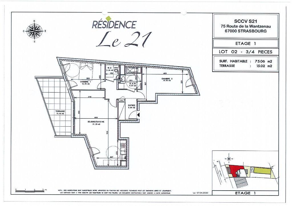 Appartement à vendre 3 75.06m2 à Strasbourg vignette-1