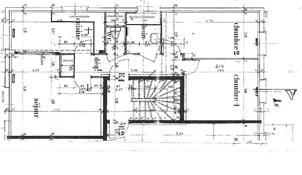 Appartement à louer 3 72m2 à Strasbourg plan-1