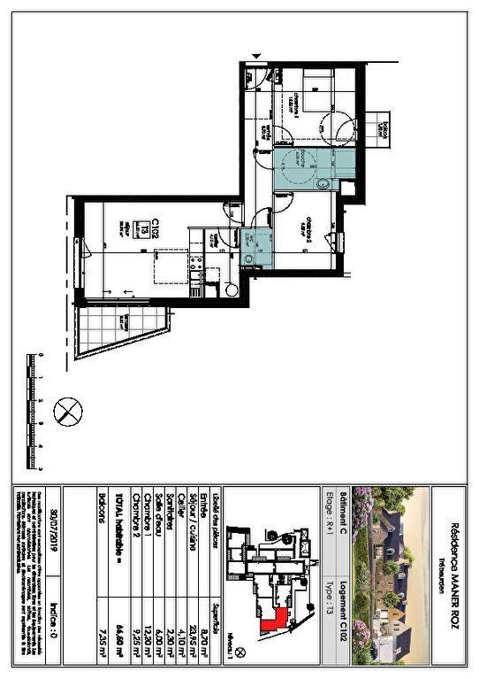 Appartement à vendre 3 66.5m2 à Trébeurden vignette-5