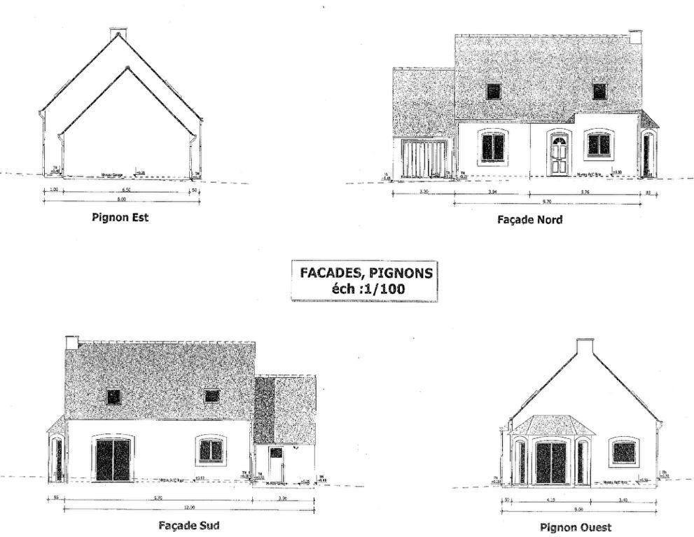 Maison à vendre 6 100.3m2 à Pléguien plan-3