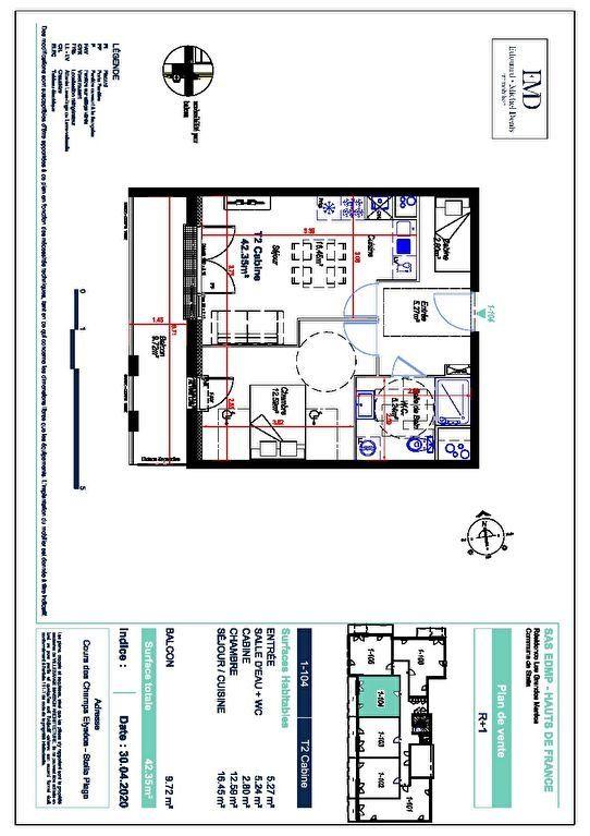 Appartement à vendre 2 35m2 à Cucq vignette-2