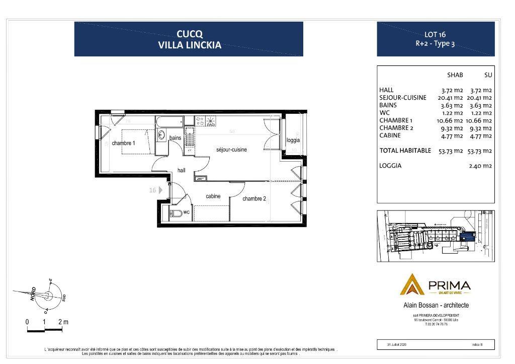Appartement à vendre 3 49.91m2 à Cucq vignette-4