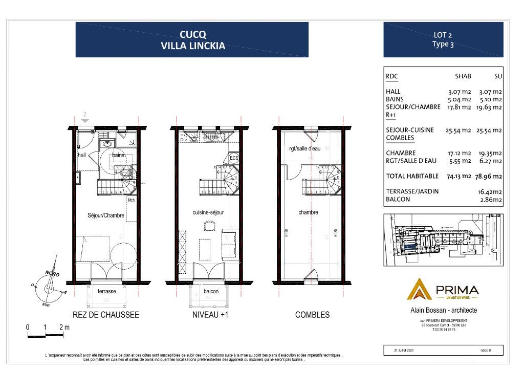 Maison à vendre 3 78.08m2 à Cucq vignette-5