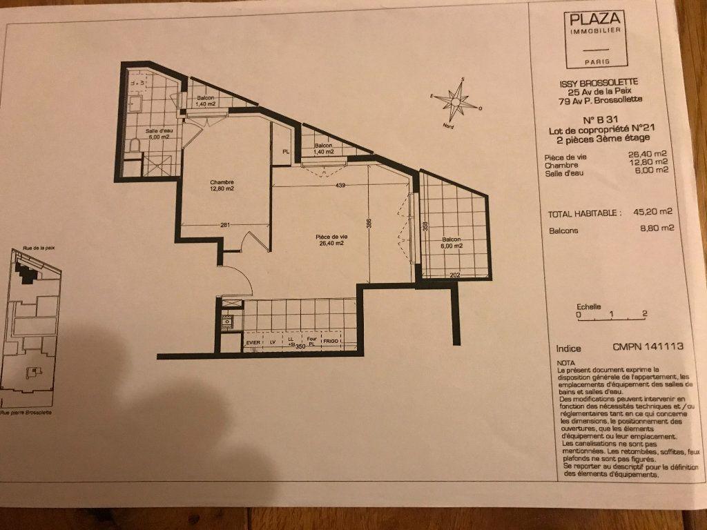 Appartement à louer 2 45.2m2 à Issy-les-Moulineaux vignette-9