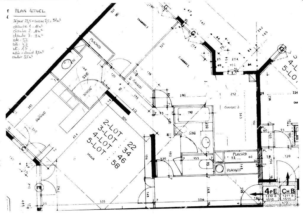 Appartement à vendre 4 87m2 à Vanves plan-1