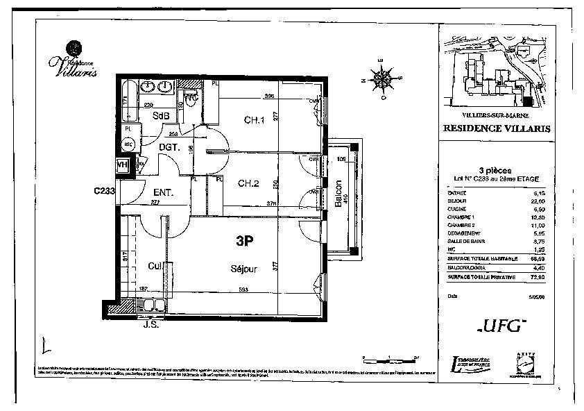 Appartement à vendre 3 68.5m2 à Villiers-sur-Marne vignette-6