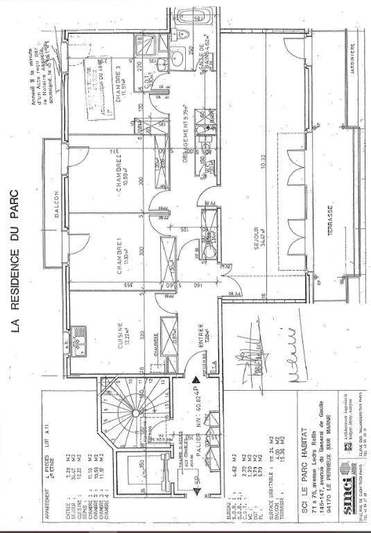 Appartement à vendre 5 110.11m2 à Le Perreux-sur-Marne plan-2