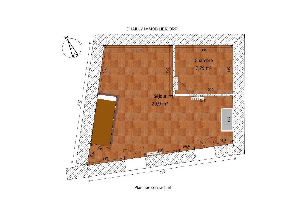 Maison à louer 3 58.03m2 à Courances vignette-7