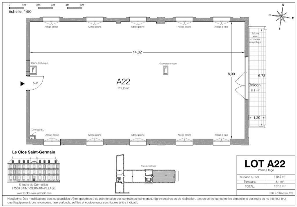Appartement à vendre 4 119.2m2 à Saint-Germain-Village vignette-4