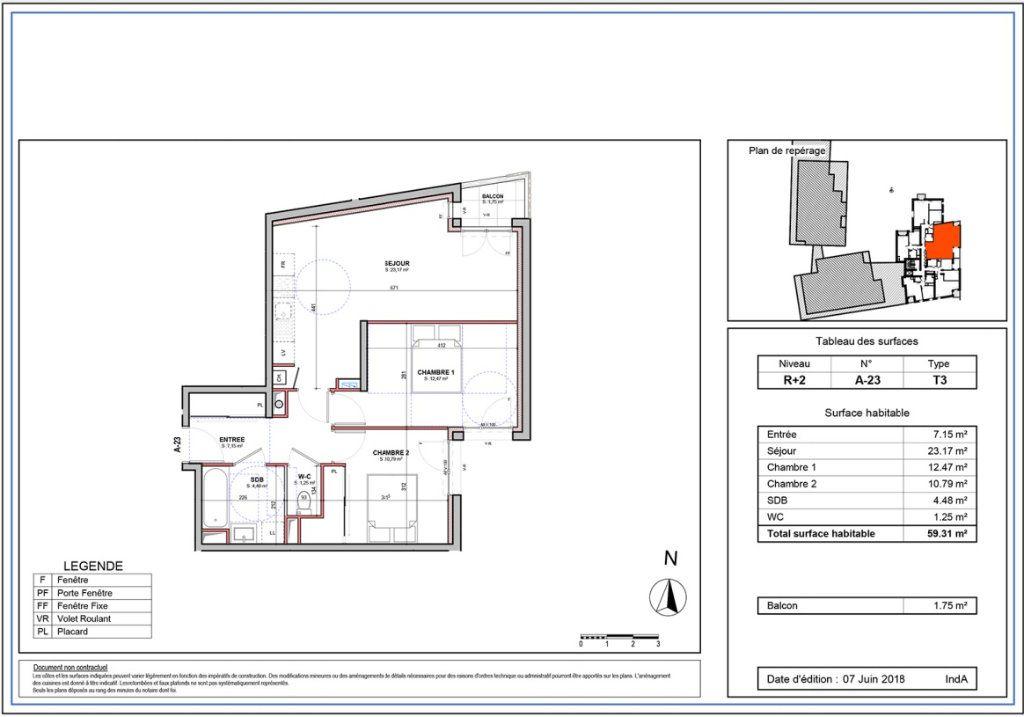 Appartement à louer 3 59.31m2 à Joué-lès-Tours vignette-2