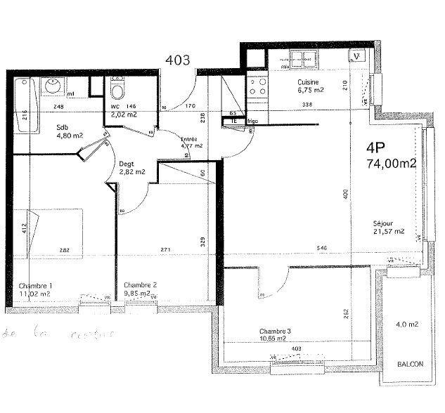 Appartement à vendre 4 74.15m2 à Argenteuil vignette-2