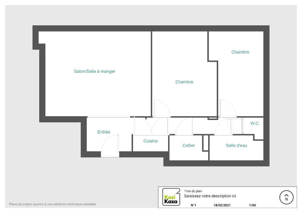 Appartement à vendre 3 59.55m2 à Taverny vignette-3