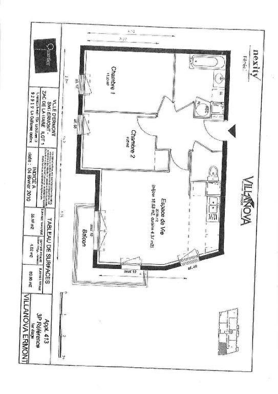 Appartement à louer 3 56.86m2 à Ermont vignette-7