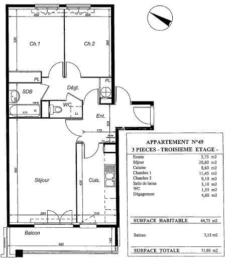 Appartement à louer 3 64.75m2 à Massy vignette-8
