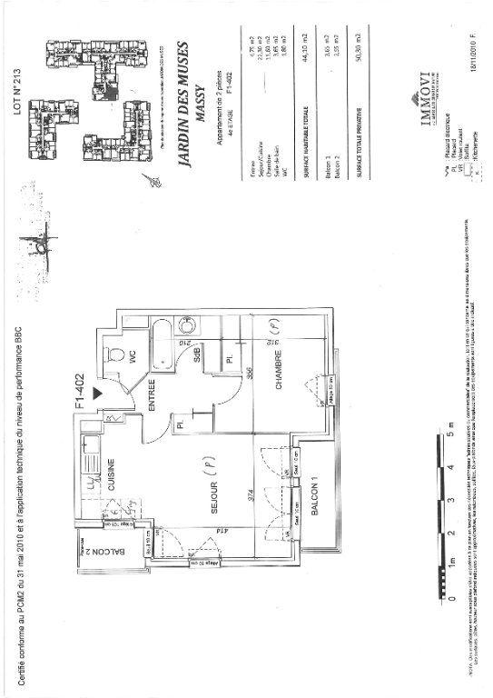 Appartement à louer 2 44.1m2 à Massy vignette-2