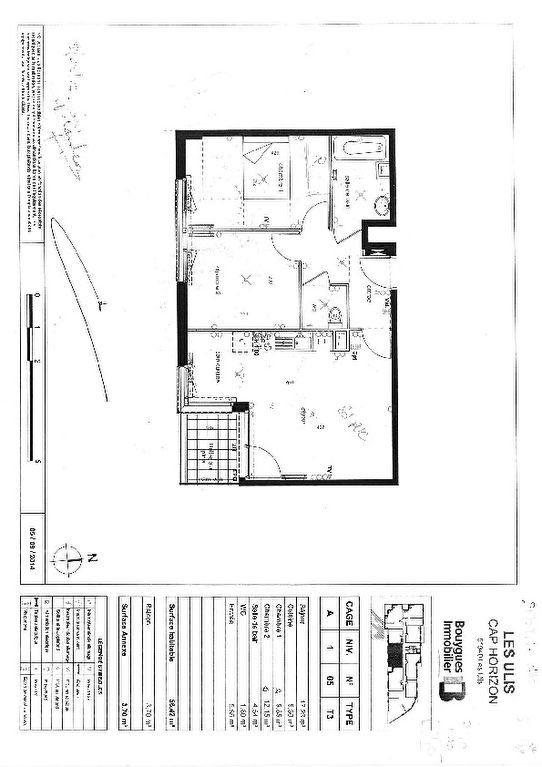Appartement à louer 3 56.42m2 à Les Ulis vignette-1