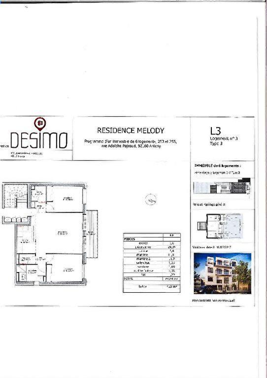 Appartement à louer 3 64.84m2 à Antony vignette-3