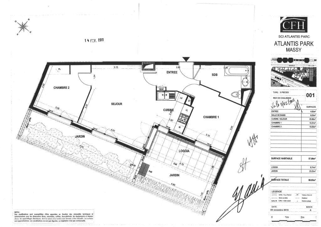Appartement à louer 3 57.08m2 à Massy vignette-7