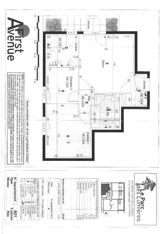 Appartement à louer 3 53.95m2 à Massy vignette-2