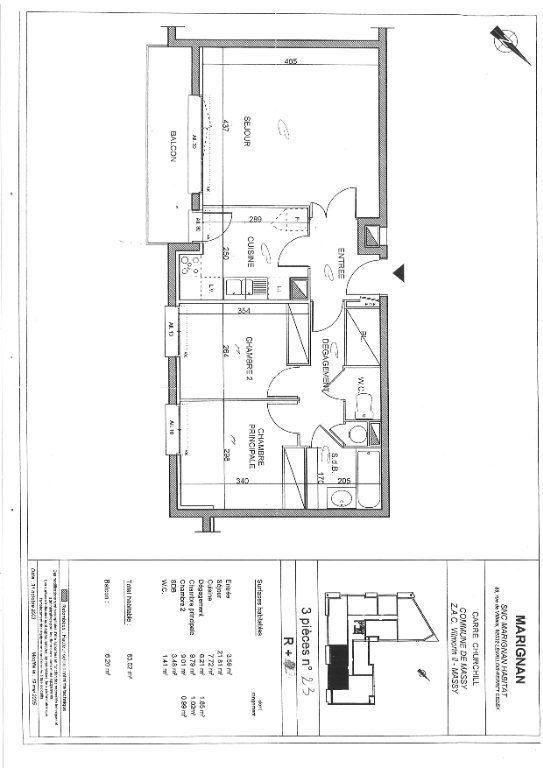 Appartement à louer 3 63.02m2 à Massy vignette-8