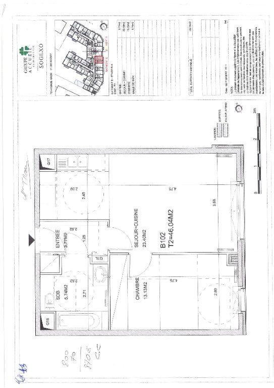 Appartement à louer 2 46.04m2 à Massy vignette-7