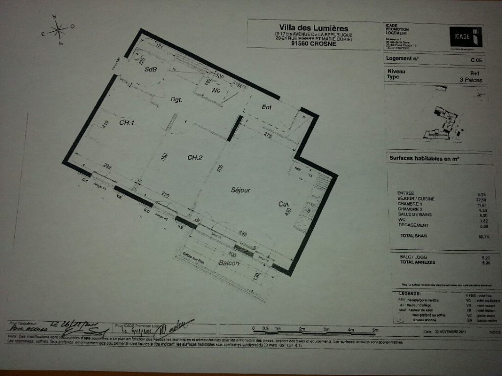 Appartement à louer 3 60.73m2 à Crosne vignette-2