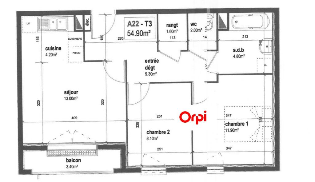Appartement à vendre 3 55.28m2 à Mantes-la-Jolie vignette-10