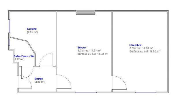 Appartement à vendre 2 36.6m2 à Paris 18 plan-1