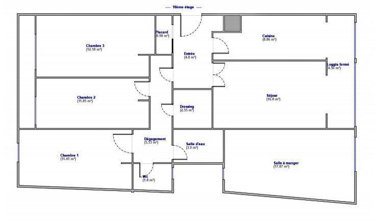 Appartement à vendre 5 108m2 à Paris 12 plan-1