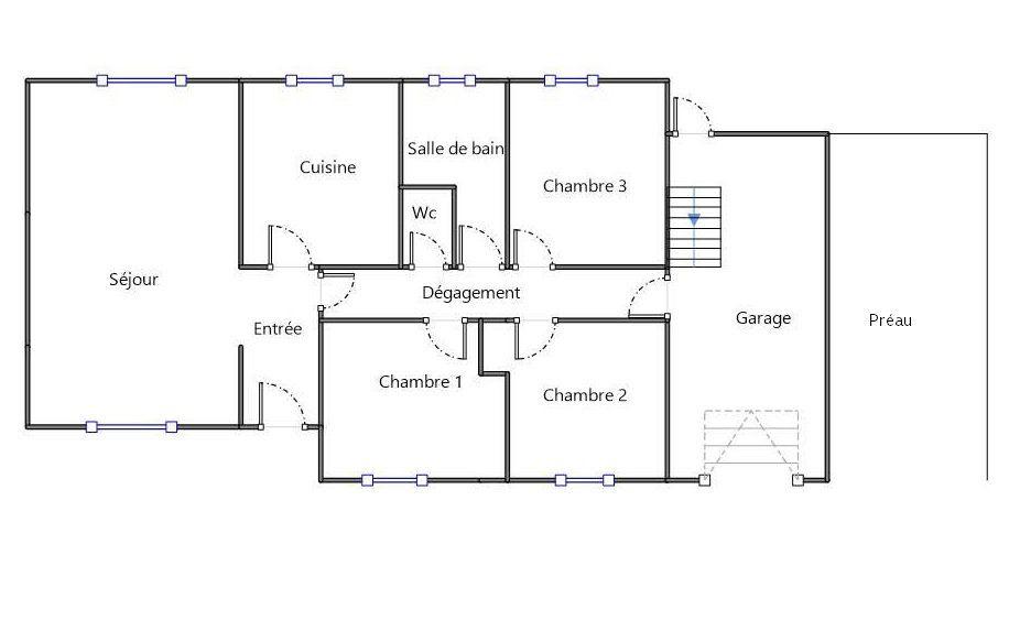 Maison à louer 5 88m2 à Fondettes plan-1