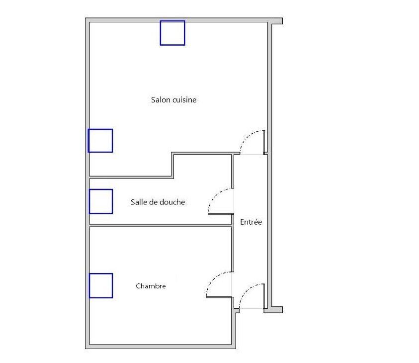 Appartement à louer 2 30m2 à Bléré plan-1