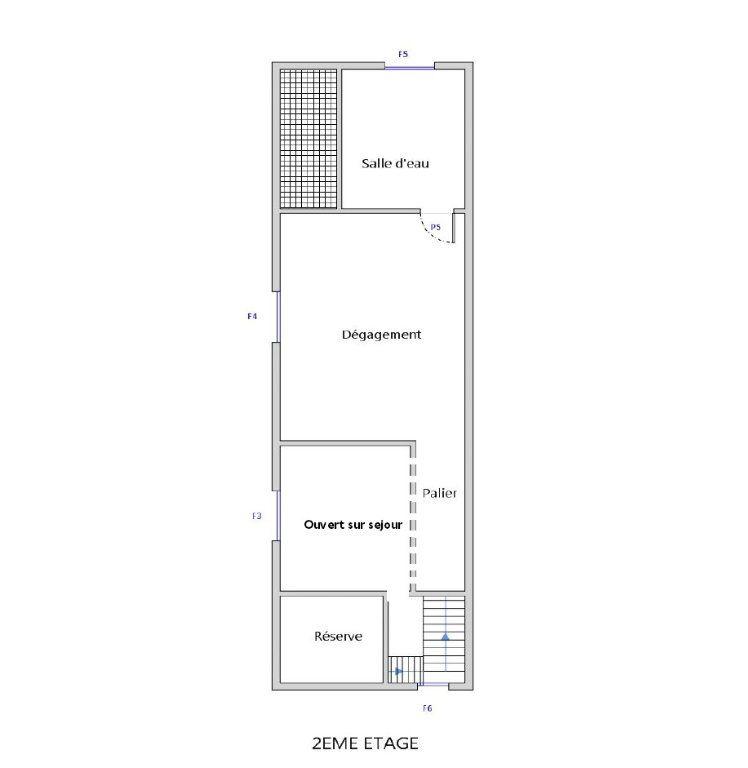Appartement à louer 3 50m2 à Bléré plan-2