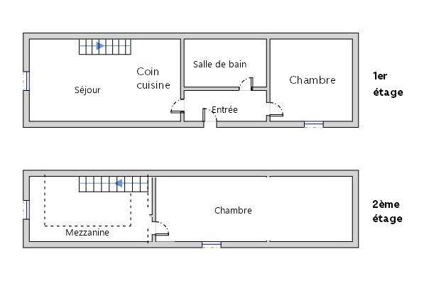 Appartement à louer 3 41m2 à Bléré plan-1