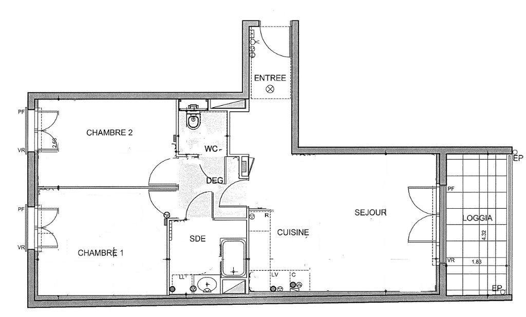 Appartement à louer 3 64.75m2 à Achères vignette-4