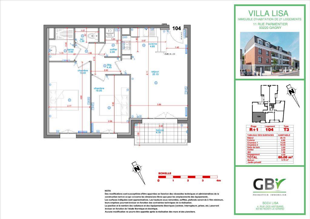 Appartement à vendre 3 60.4m2 à Gagny vignette-3