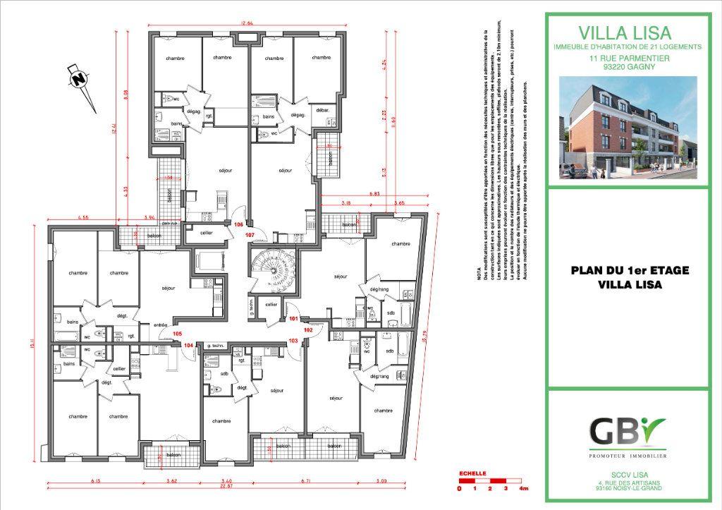 Appartement à vendre 3 60.4m2 à Gagny vignette-4