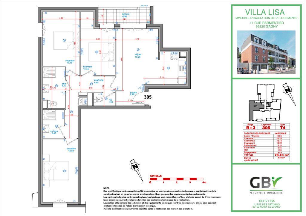 Appartement à vendre 4 73.1m2 à Gagny vignette-3