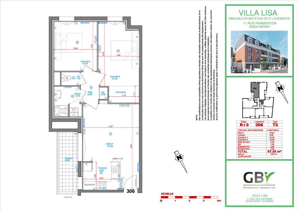 Appartement à vendre 3 58m2 à Gagny vignette-3