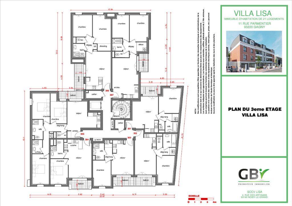 Appartement à vendre 3 58m2 à Gagny vignette-4