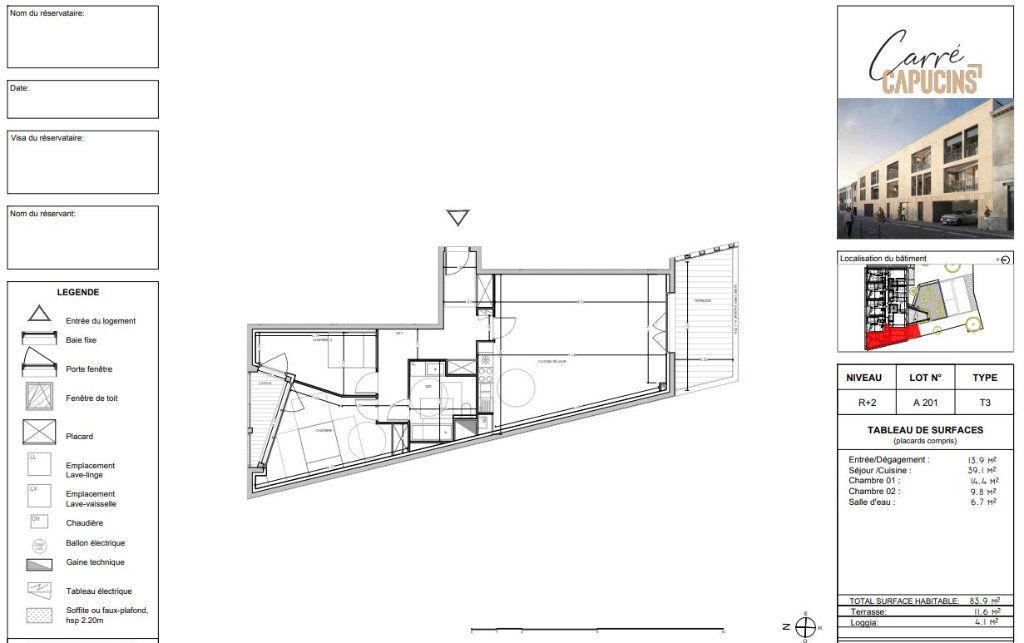 Appartement à vendre 3 83.9m2 à Bordeaux vignette-3