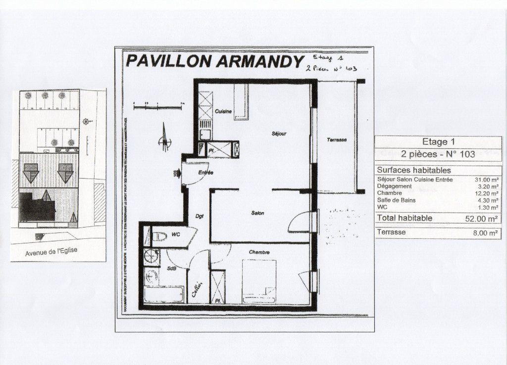 Appartement à vendre 3 52m2 à Gujan-Mestras plan-1