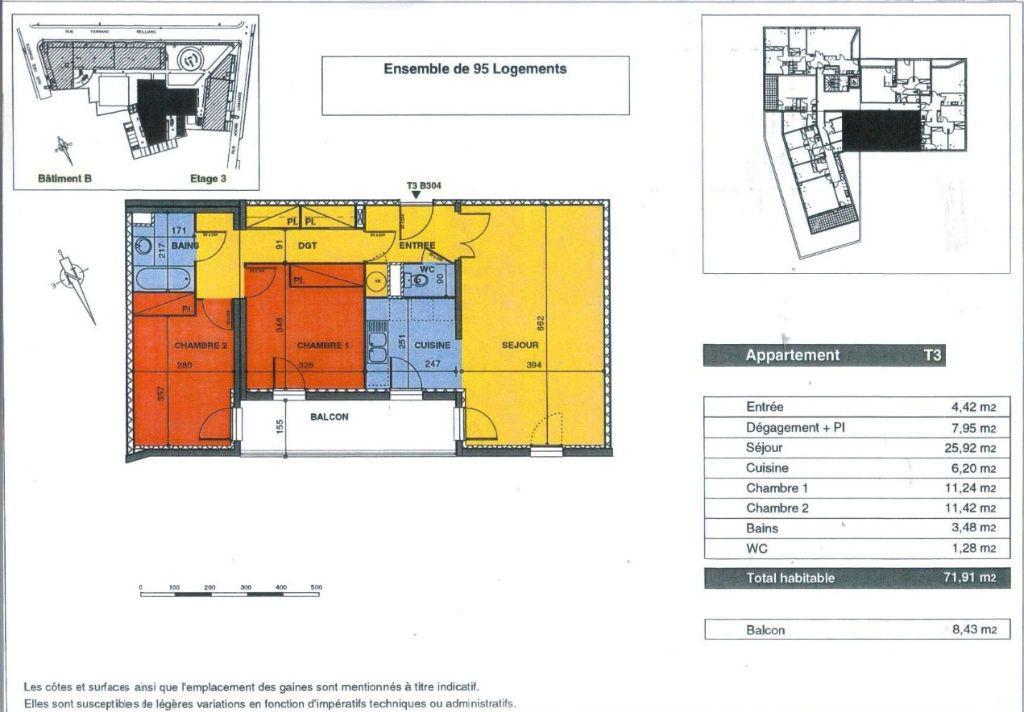 Appartement à vendre 3 72m2 à Bordeaux vignette-5