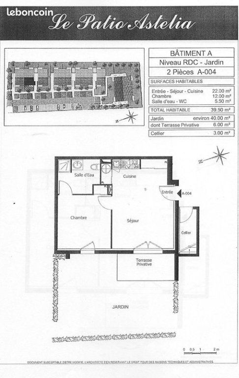Appartement à vendre 2 39.5m2 à Lormont vignette-3