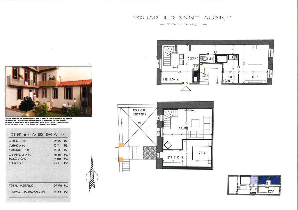 Appartement à vendre 3 57.98m2 à Toulouse vignette-2