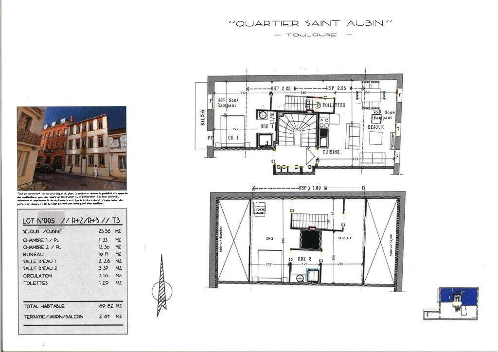 Appartement à vendre 4 69.82m2 à Toulouse vignette-2