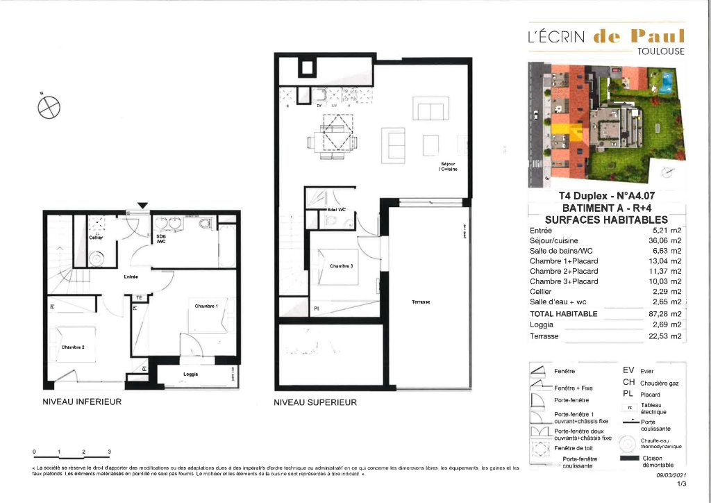 Appartement à vendre 4 87.28m2 à Toulouse vignette-2
