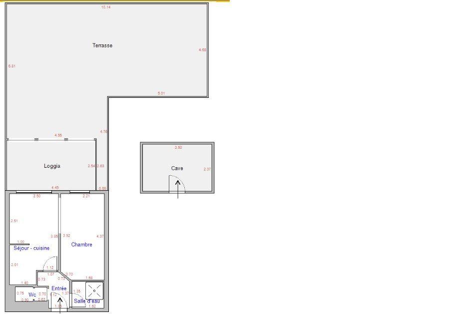Appartement à vendre 2 25.74m2 à Bandol plan-1