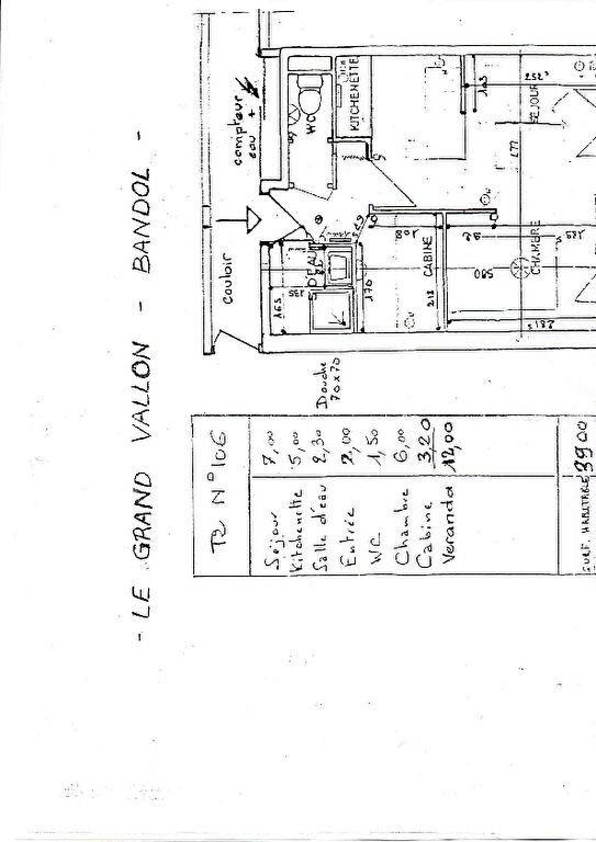 Appartement à vendre 2 25.74m2 à Bandol plan-2